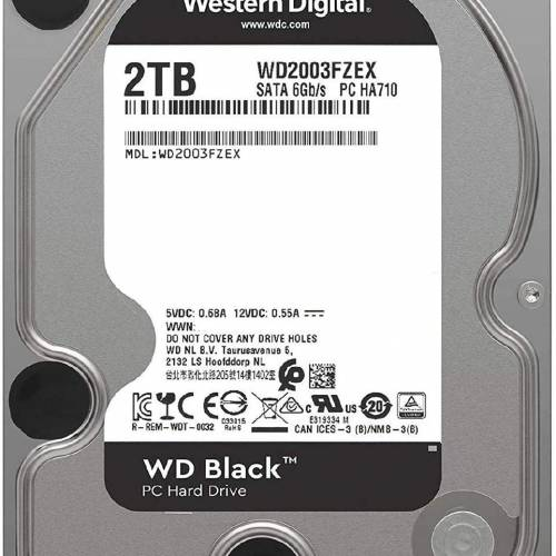 Western Digital Black Hard Drive 3.5 2TB 7200RPM