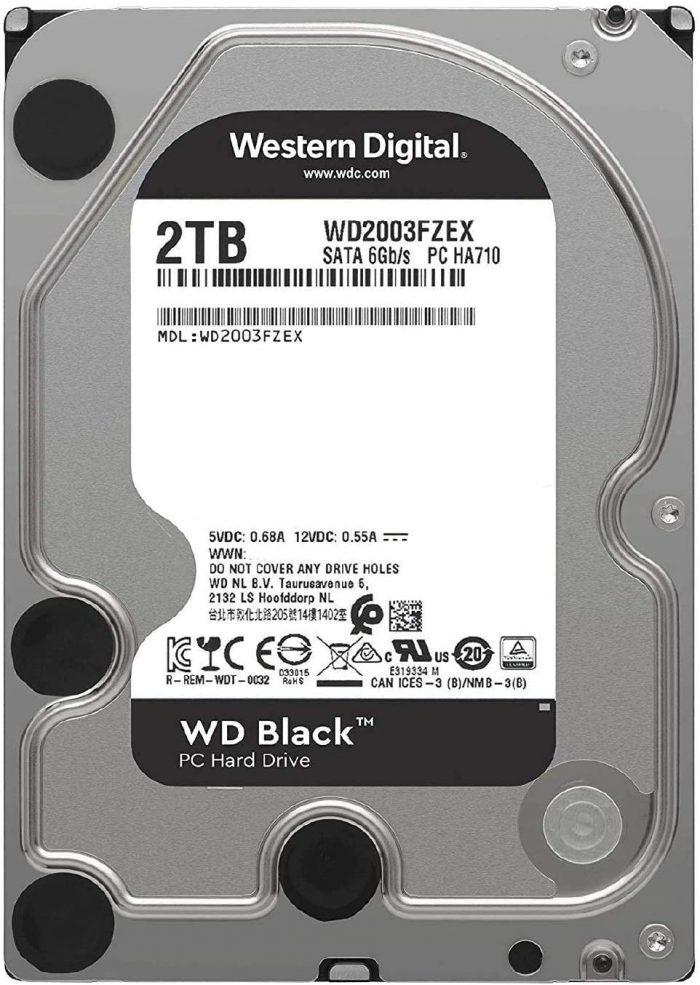 Western Digital Black Hard Drive 3.5 2TB 7200RPM