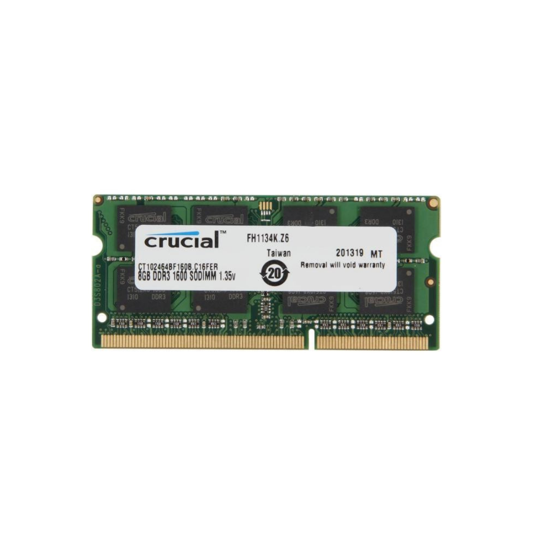 Crucial 8GB SO-DIMM 1.35V DDR3 1600MHZ - Notebook