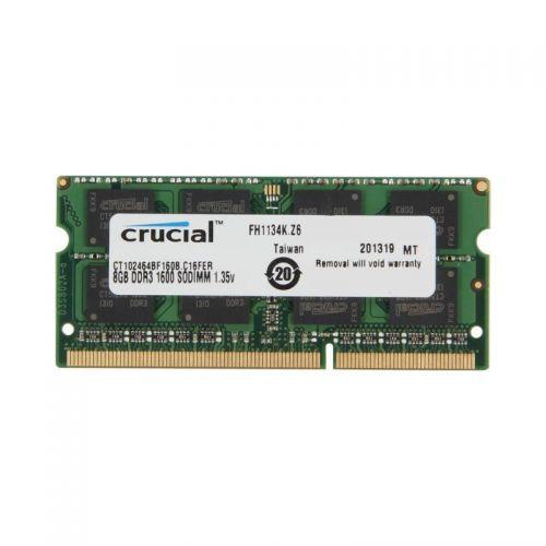 Crucial 8GB SO-DIMM 1.35V DDR3 1600MHZ