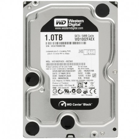Western Digital Black Hard Drive 3.5 1TB 7200RPM