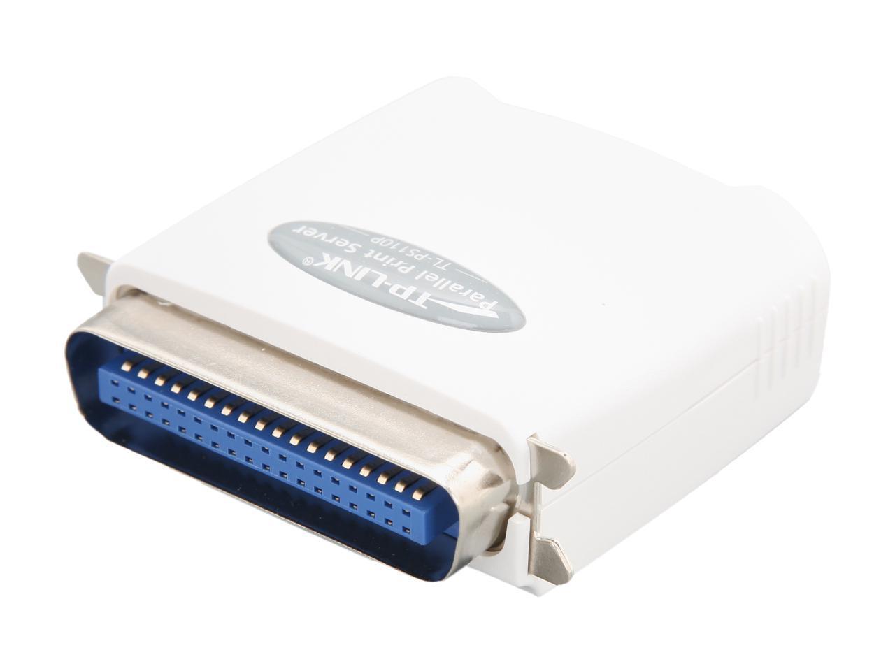 TP-Link TL-PS110P Fast Ethernet Print Server RJ45 Parallel