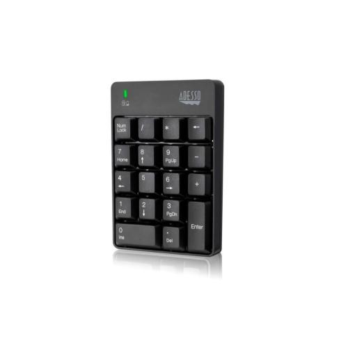 Adesso - Wireless Spill Resistant 18-Key Numeric Keypad