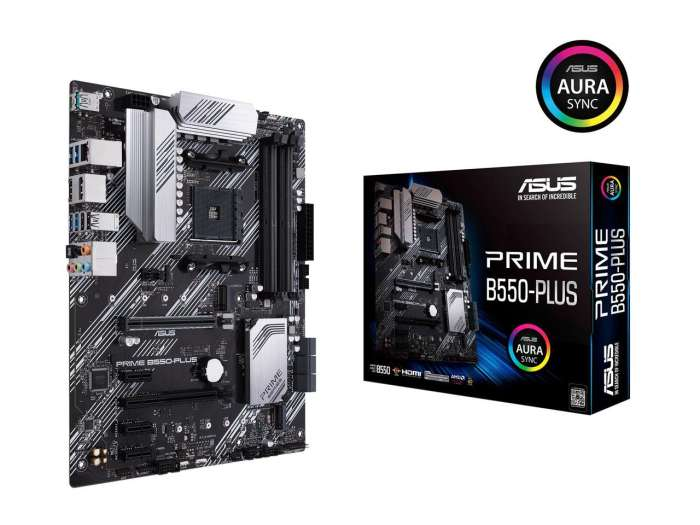 ASUS Prime B550-Plus AM4 ATX Motherboard - B550 Chipset - PCIe 4.0 compatibility