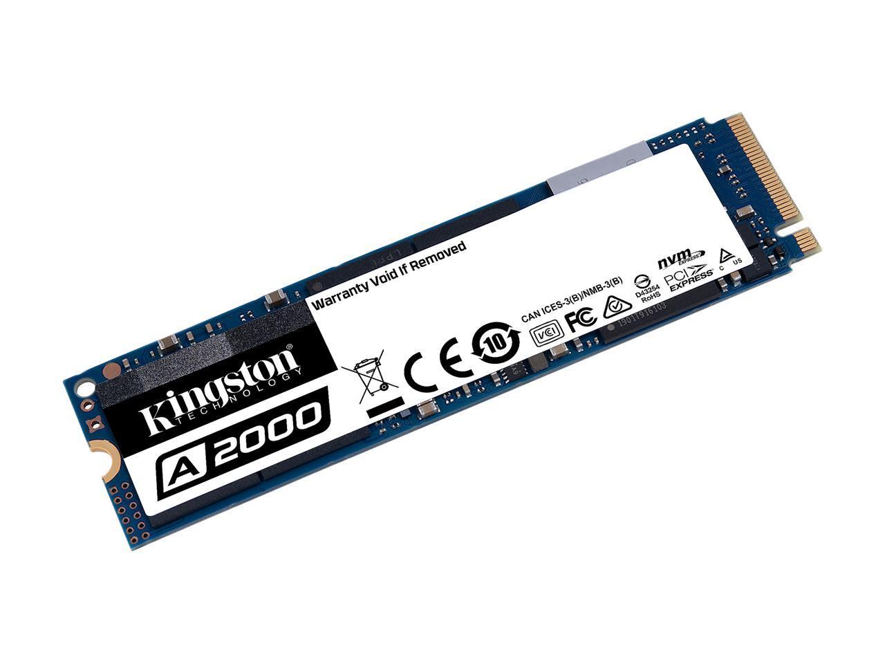 Kingston A2000 1TB M.2 NVMe PCIe Gen 3.0 x4 Internal Solid State Drive