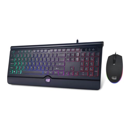 Adesso USB Multi-Colored Illuminated Keyboard & Mouse