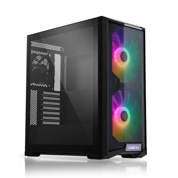 LIAN LI LANCOOL 215 BLACK Tempered Glass ATX Case -Black