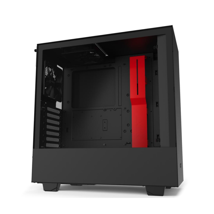 NZXT H510 – Compact ATX Mid-Tower PC Gaming Case (Black_Red)